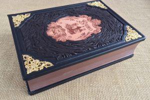 подарочная кожаная книга полная энциклопедия вино (2)